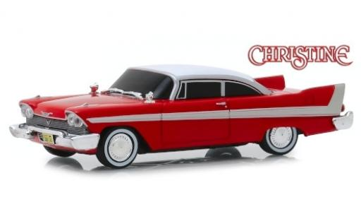 Plymouth Fury 1/43 Greenlight rouge/blanche Christine 1958 Evil Version (getönte Scheiben) miniature