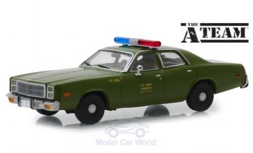 Plymouth Fury 1/43 Greenlight U.S. Army 1977 The A-Team miniature