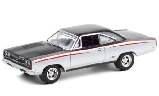 Plymouth GTX 1/64 Greenlight Custom grey/black 1968 diecast model cars