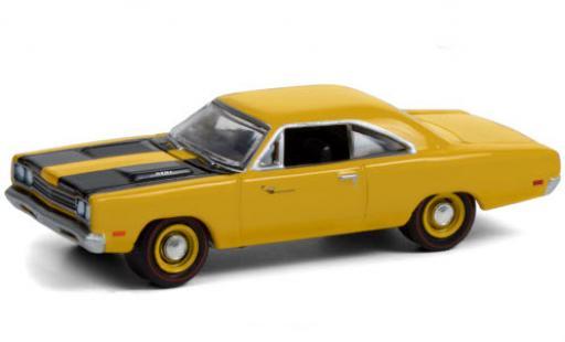 Plymouth Road Runner 1/64 Greenlight jaune/noire 1969 Pawn Stars miniature