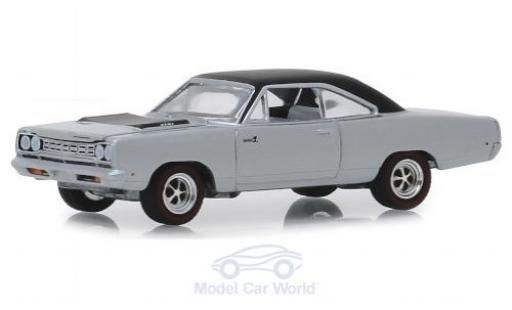Plymouth Road Runner 1/64 Greenlight HEMI grise/matt-noire 1968 miniature