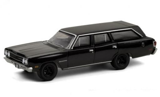Plymouth Satellite 1/64 Greenlight Station Wagon black/matt-black 1970 diecast model cars