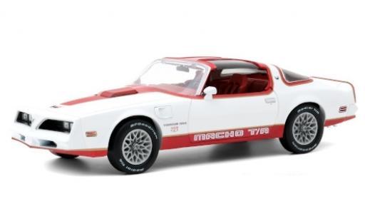 Pontiac Firebird 1/18 Greenlight Macho Trans Am by Mecham Design blanche/rouge 1978 miniature