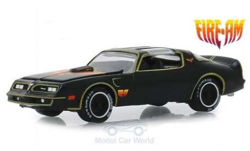 Pontiac Firebird 1/64 Greenlight T/A Fire AM by VSE noire/Dekor 1977 miniature