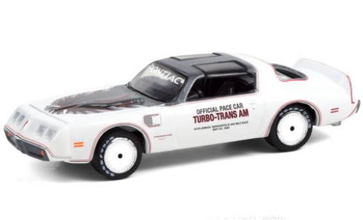 Pontiac Firebird 1/64 Greenlight Turbo-Trans Am Indy 500 - Official Pace Car 1980 64th Annual Indianapolis 500 Mile Race miniature
