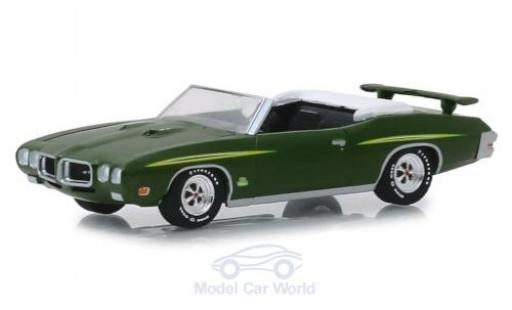 Pontiac GTO 1/64 Greenlight Judge Convertible metallise verte 1970 miniature