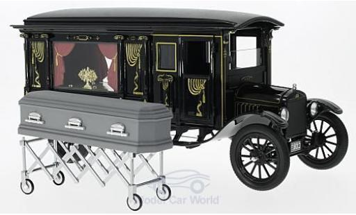 Ford Model T 1/18 Greenlight Precision Hearse noire 1921 miniature