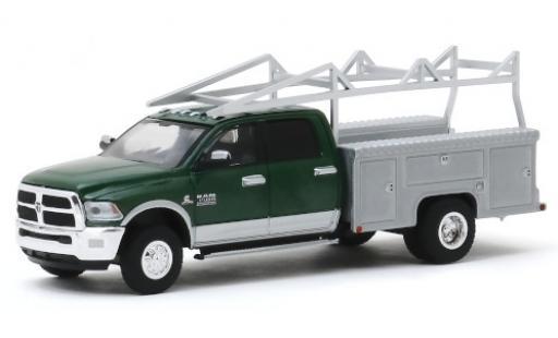 RAM 3 1/64 Greenlight 500 Laramie mettalic grün/silber 2018 avec Leitergestell modellautos