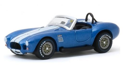 Shelby Cobra 1/64 Greenlight 427 S/C métallisé bleue/blanche 1967 miniature