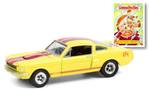 Shelby GT 1/64 Greenlight 350 yellow/red GPK - Garbage Pail Kids 1966 diecast model cars