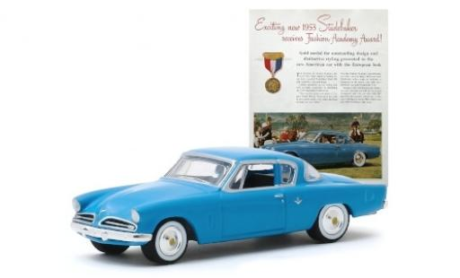 Studebaker Commander 1/64 Greenlight azul 1953 miniatura