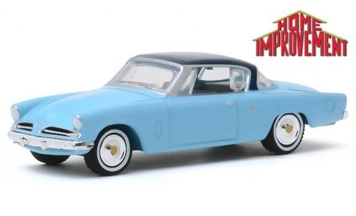 Studebaker Commander 1/64 Greenlight Starliner blau/blau Home Improvement 1953 modellautos