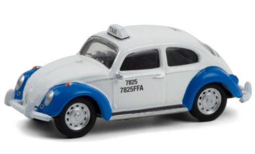 Volkswagen Beetle 1/64 Greenlight (Käfer) white/blue Taxi diecast model cars