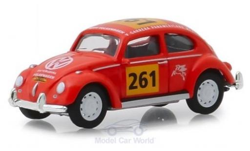 Volkswagen Beetle 1/64 Greenlight orange No.261 La Carrera Panamericana 1954 miniature