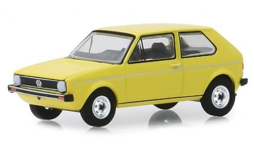 Volkswagen Golf 1/64 Greenlight I jaune 1974 miniature