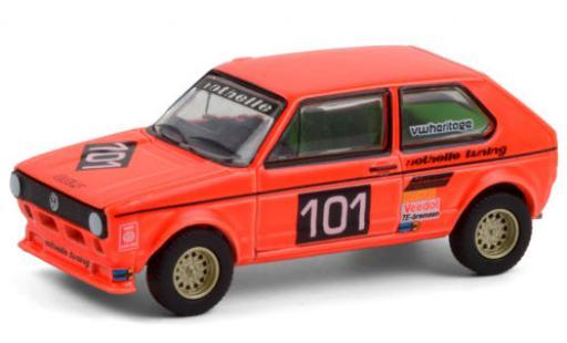 Volkswagen Golf 1/64 Greenlight I Gr.2 No.101 Note Tuning Hockenheim 1975 diecast model cars