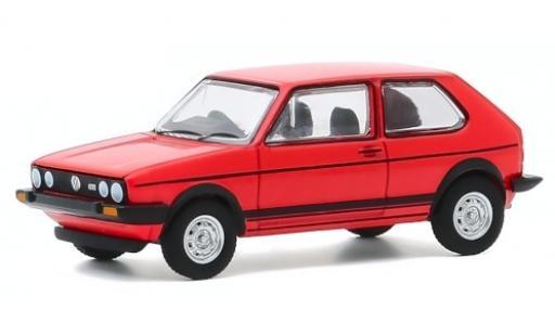 Volkswagen Golf 1/64 Greenlight I GTI rojo RHD 1982 coche miniatura
