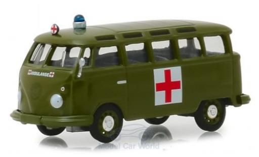 Volkswagen T1 1/64 Greenlight Samba Bus Army Ambulance 1964 miniature