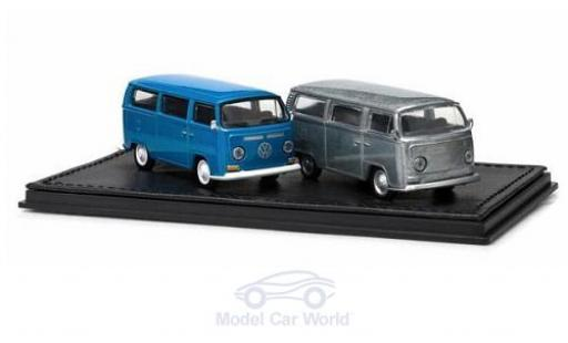 Volkswagen T2 1/64 Greenlight Bus 2er-Set bleue/aluminium miniature