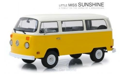 Volkswagen T2 1/18 Greenlight Bus jaune/blanche Little Miss Sunshine 1978 miniature