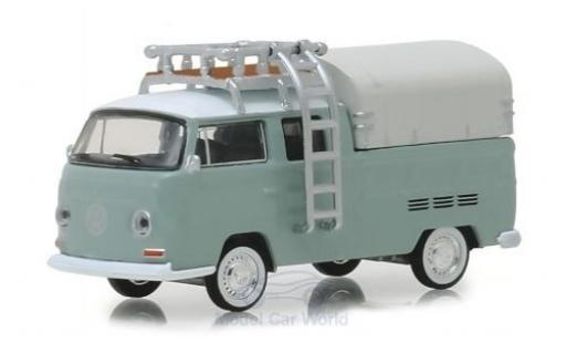 Volkswagen T2 1/64 Greenlight DoKa grey/white 1974 diecast