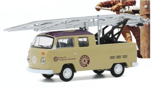 Volkswagen T2 1/64 Greenlight Double Cab Ladder Truck Ringwell Telephone Company 1972 miniature