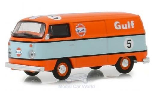 Volkswagen T2 1/64 Greenlight Kastenwagen orange/bleue 1975 miniature