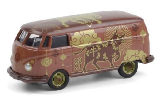 Volkswagen T2 1/64 Greenlight Panel Van 2021 - Year of the Ox diecast model cars