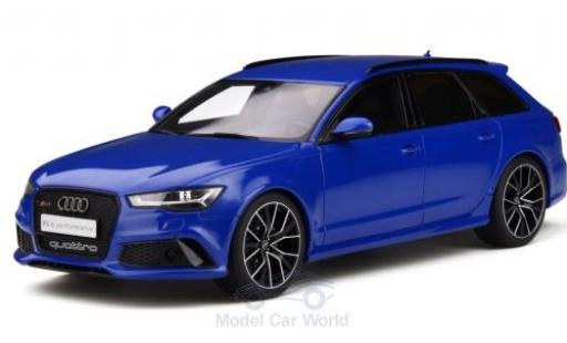 Audi RS6 1/18 GT Spirit (C7) Performance Nogaro Edition métallisé bleue 2018 miniature