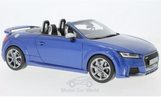 Audi TT RS 1/18 GT Spirit Roadster metallise bleue miniature