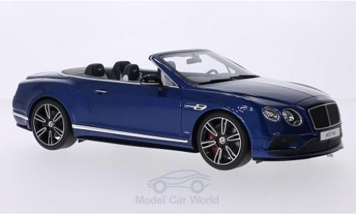 Bentley Continental T 1/18 GT Spirit GT V8 S Convertible metallic-bleue miniature