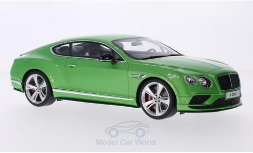 Bentley Continental T 1/18 GT Spirit GV8S metallise verte miniature