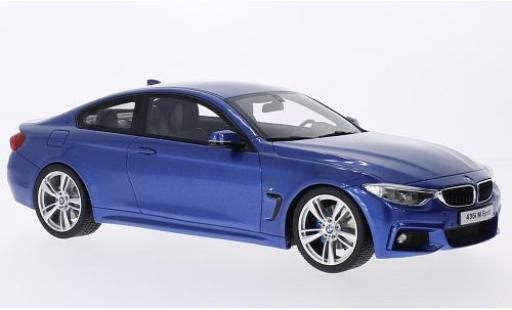 Bmw 435 1/18 GT Spirit i M-Sport metallise bleue miniature