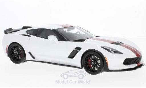 Chevrolet Corvette 1/18 GT Spirit C7 Z06 white/red 2017 diecast model cars