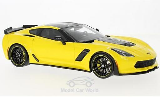 Chevrolet Corvette C7 1/18 GT Spirit R Edition yellow/black 2016 diecast