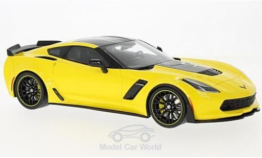 Chevrolet Corvette C7 1/18 GT Spirit Z06-.R Edition jaune/noire 2016 miniature