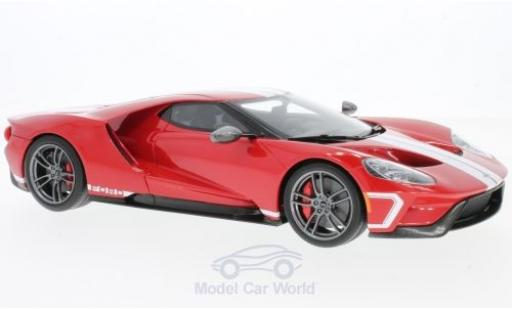 Ford GT 1/18 GT Spirit rouge/blanche 2017 Heritage Edition miniature