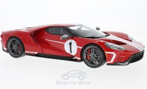 Ford GT 1/18 GT Spirit rouge/blanche No.1 2017 50th Heritage edition miniature