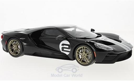 Ford GT 1/18 GT Spirit noire/blanche 2016 50th Anniversary Edition miniature