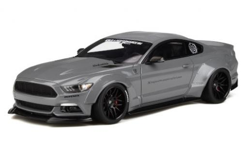 Ford Mustang 1/18 GT Spirit by LB-Works gris miniatura