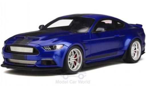 Ford Mustang GT 1/18 GT Spirit Shelby -350 Widebody metallise bleue/noire 2017 miniature