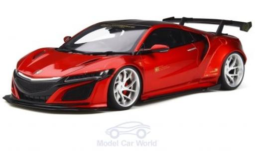 Honda NSX 1/18 GT Spirit LB-Works metallise rouge RHD miniature