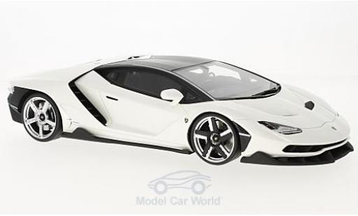 Lamborghini Centenario 1/18 GT Spirit metallise blanche 2016 miniature