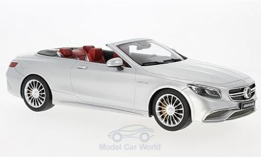 Mercedes Classe S 1/18 GT Spirit AMG S 65 Convertible grise miniature