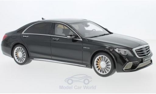 Mercedes Classe S 1/18 GT Spirit AMG S 65 Phase II noire miniature