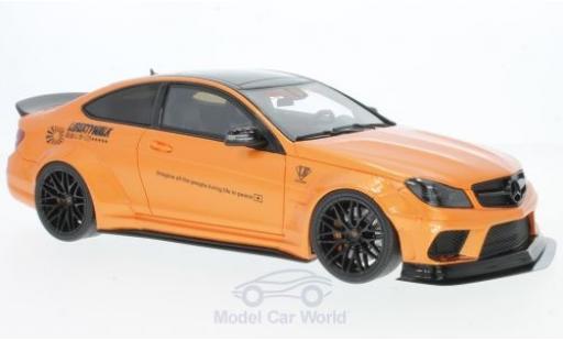 Mercedes Classe C 1/18 GT Spirit C63 LB Works metallise orange 2017 miniature