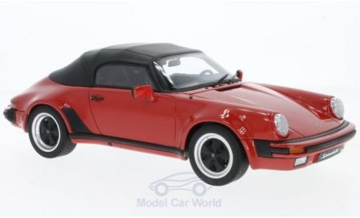 Porsche 930 Speedster 1/18 GT Spirit 3.2 Speedster rojo 1989 miniatura