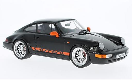 Porsche 964 RS 1/18 GT Spirit 911  Carrera noire/orange miniature