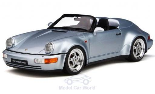 Porsche 911 1/18 GT Spirit (964) Speedster Turbo Look grise miniature