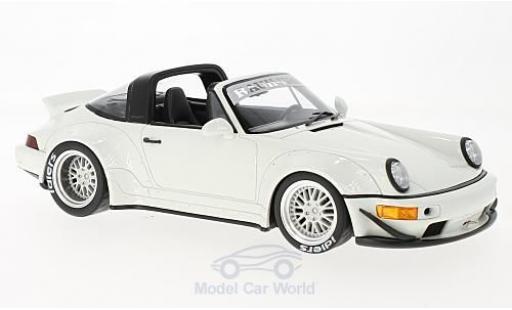 Porsche 964 Targa 1/18 GT Spirit (964) Targa RWB blanche miniature